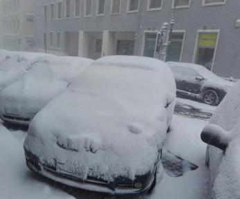 Maltempo: in un'immagine del 6 gennaio 2017 il centro storico di Potenza sotto la neve