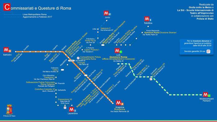San Valentino: no violenza, mappa commissariati vicini metro