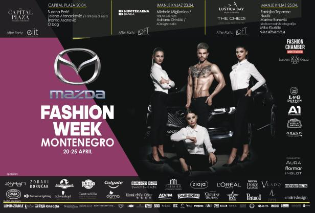 Locandina Mazda Fashion Week Montenegro