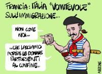 E dopo i teutonici, andiamo a dire un paio di paroline ai mangiabaguette... #Macron #Vomitevole #Bardonecchia 