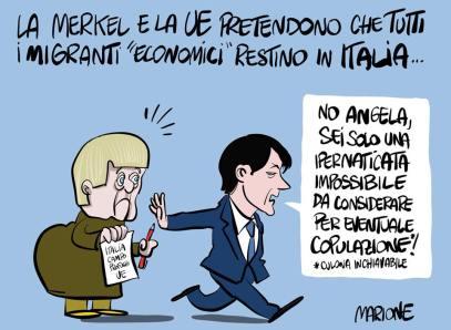 Ovviamente il nostro #ContePremier ha già detto #ciaone ai viscidi #europeisticolculonostro. #Merkel #ItaliaMaiPiùServaDellaUE