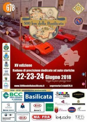dal 22 al 24 giugno XV Edizione Raduno Auto Storiche-Potenza