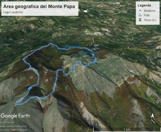 Lago Laudemio area geografica del Massicio Monte Papa.jpg