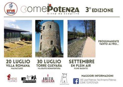 Scopri Potenza 20 luglio villa romana-Malvaccaro 30 luglio torre guevara Via B.Bonaventura-Potenza