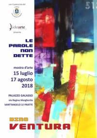 dal 15 luglio al 17 agosto Mostra d'Arte Le parole non Dette-Sant'Angelo Le Fratte (pz)
