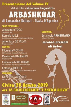 28 agosto Civita (Cs) Arbashkuar Presentazione IV Volume