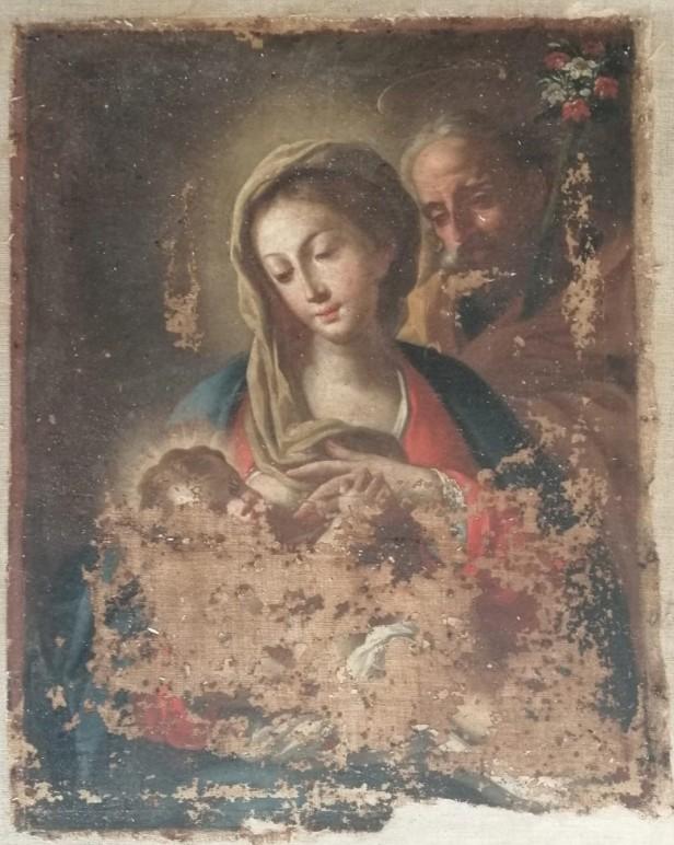 Dipinto di Madonna su tela, 700 ca.[9775]