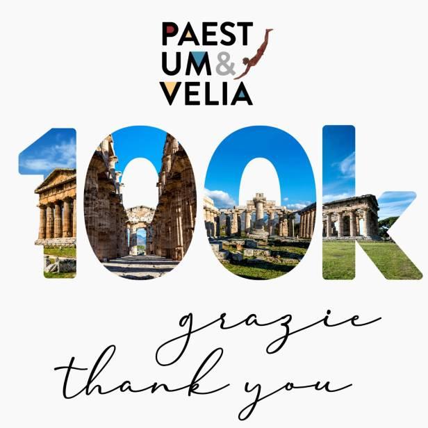 100.000 like alla Pagina Facebook del Parco Archeologico di Paestum