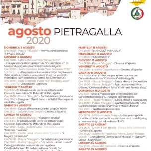 Dal 02 al 29 agosto Lista Eventi Pietragalla (PZ)