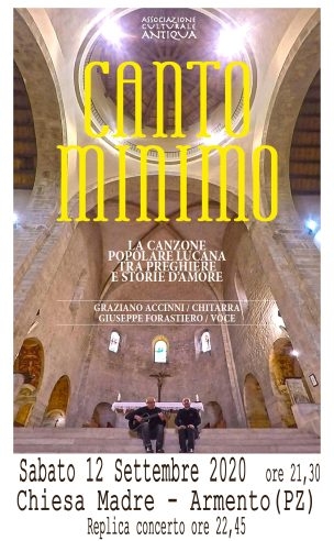 CANTO MINIMO ARMENTO 12 SETTEMBRE 2020