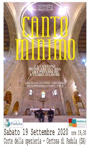 CANTO MINIMO CERTOSA DI PADULA 19 SETTEMBRE 2020