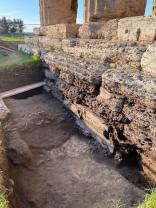 Scavi in corso al tempio di Nettuno